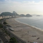 Copacabana Beach - view from the room.