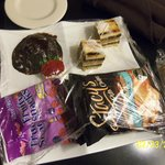 Food brought to our room