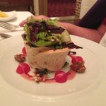 Salad in a bread basket