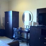 nice room! with flat screen, mini fridge and wardrobe