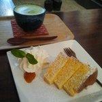 Chiffon Cake y Matcha Latte