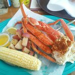 Large crab legs at a great price