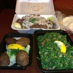 kibi shawarma and tabouli