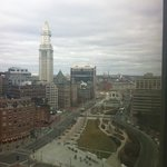 our morning view of Boston from the 12th floor.