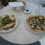 Delicious lunch on private patio