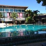 piscine au petit matin