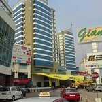Hotel and Giant supermarket