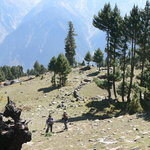Guest doing a trekking in the nearby mountain areas
