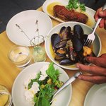 Share food table - Mussels, Duck, Zucchini & Bocconcini