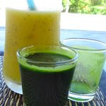 Mango Smoothie and Wheat Grass Shooter