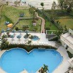 du balcon sur la piscine