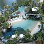 A view of the spectacular pool at Surfers Paradise Marriott Resort