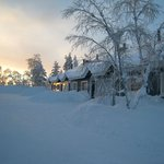 Holiday cabins in January