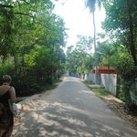 One of the cosy streets leading to Ananda Beach Resort
