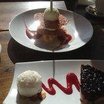 les fabuleux dessert du restaurant de l'hôtel de la poste !
