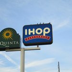 La Quinta sign with IHOP sign