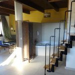 Lounge hydrobath and stairs