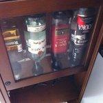 Minibar in deluxe room