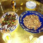 beef shih kabobs & lamb dish