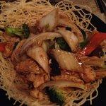 Chick wok tossed crispy noodles