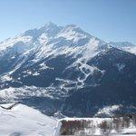 Le Mont Pourri depuis le balcon