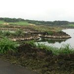 scenic course built with lava rocks