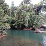 rio claro lovely fresh water swimming hole beside ocean