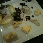 In room catering cheese platter