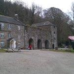 National Trust  cafe beside lime kilns