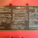 Cafe Portico Lunchtime Menu