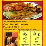 Tandoori Grill Lake George Flyer