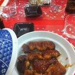 unadon: anguilles grillées à la sauce sucrée sur lit de riz nature
