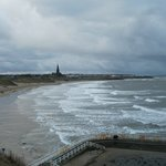 Tynemouth long sands towards Cullercoats