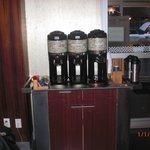 Máquina de café da recepção
