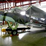 The is the Fairy Swordfish torpedo bomber. Notice the size o