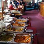 Lunch Buffet with a big selection og veg.and non veg. dishes