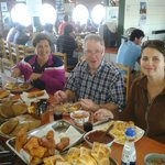 Eating lunch in Dalcahue, Chile
