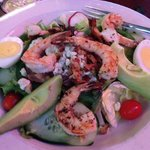 California Cobb Salad with grilled shrimp and avocado
