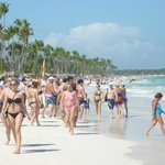 beach scene on the great sands of Punta Cana
