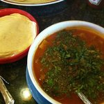 Menudo in Falcon? Yep, and it was darn good. A bit pricey but beats the drive