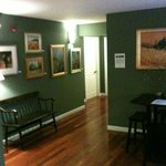 a common area in the carriage house