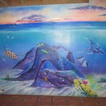 Mural in breakfast area