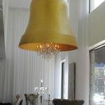 Oversized bell shaped chandelier