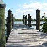 Peaceful dock area on Lemon Bay