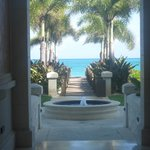 Walkway from the Regent Grand to the ocean