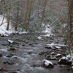 Snow on the river