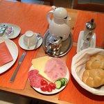 Lovely breakfast setting.