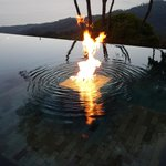 fire built into the pool