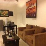 Villa 7 - coin salon - salle a manger
