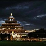 The Vishalakshi Mantap in the night